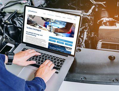 TecAlliance Webseite genutzt von Mechaniker