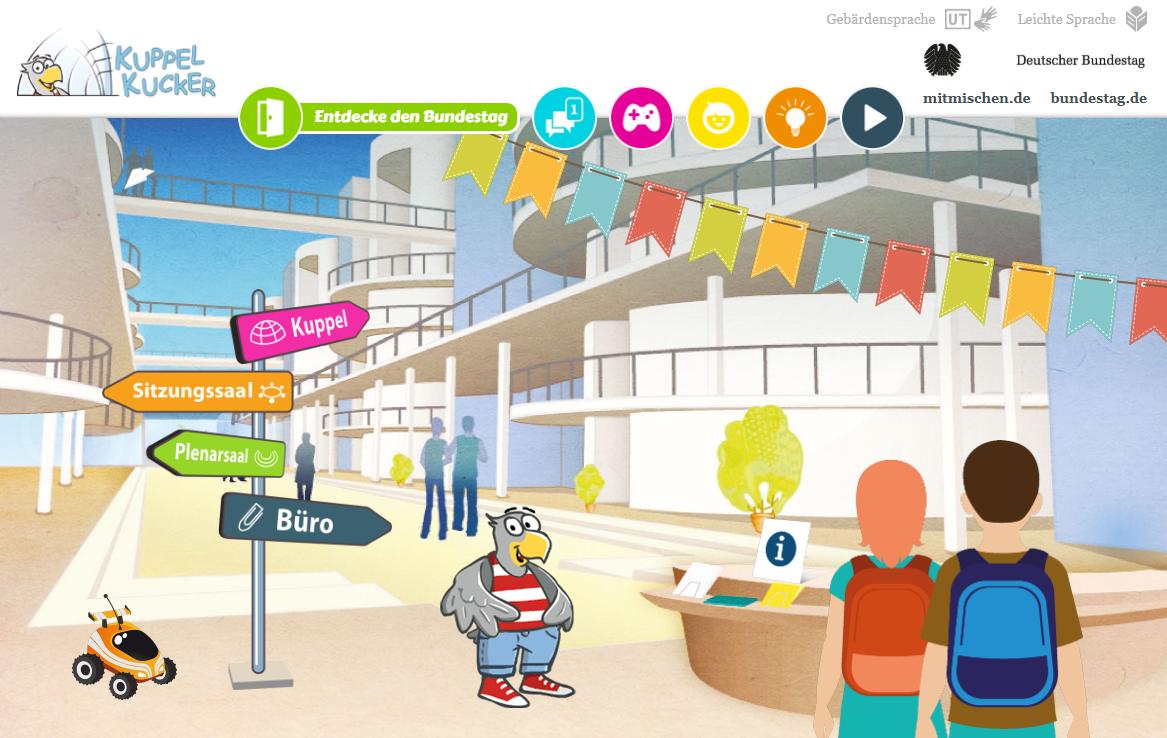 Webseite Kuppelkucker entwickelt durch portrino