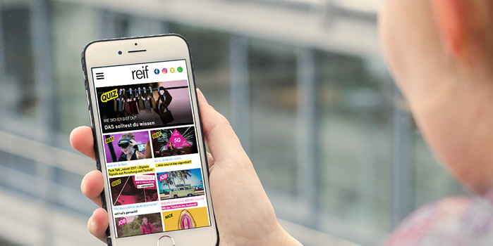 Mobile First Magazin reif von portrino