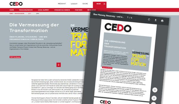 CEDO Web-2-Print-Lösung