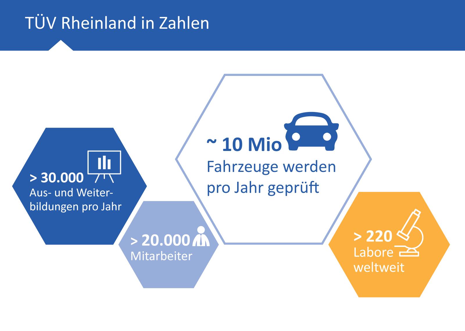 Portrino Referenz: TÜV Rheinland in Zahlen