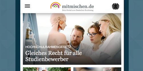 portrino developes the youth portal mitmischen.de for the German Bundestag