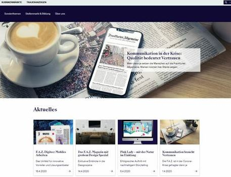 F.A.Z. Media Solutions website relaunch