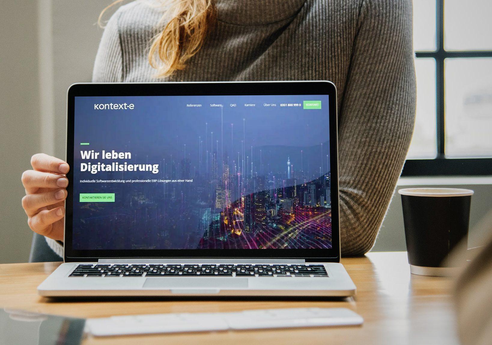 Homepage Relaunch Kontext-e --, portrino GmbH
