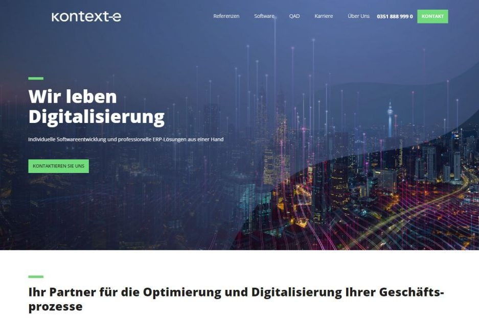 Referenz zum Website Relaunch der Kontext E GmbH