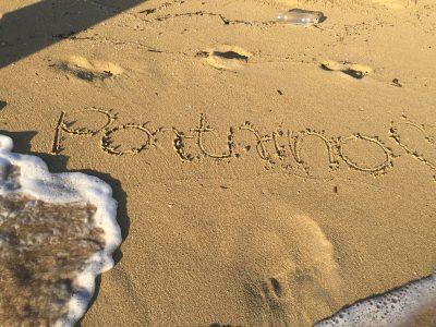 Foto von portrino Aufschrift im Sand